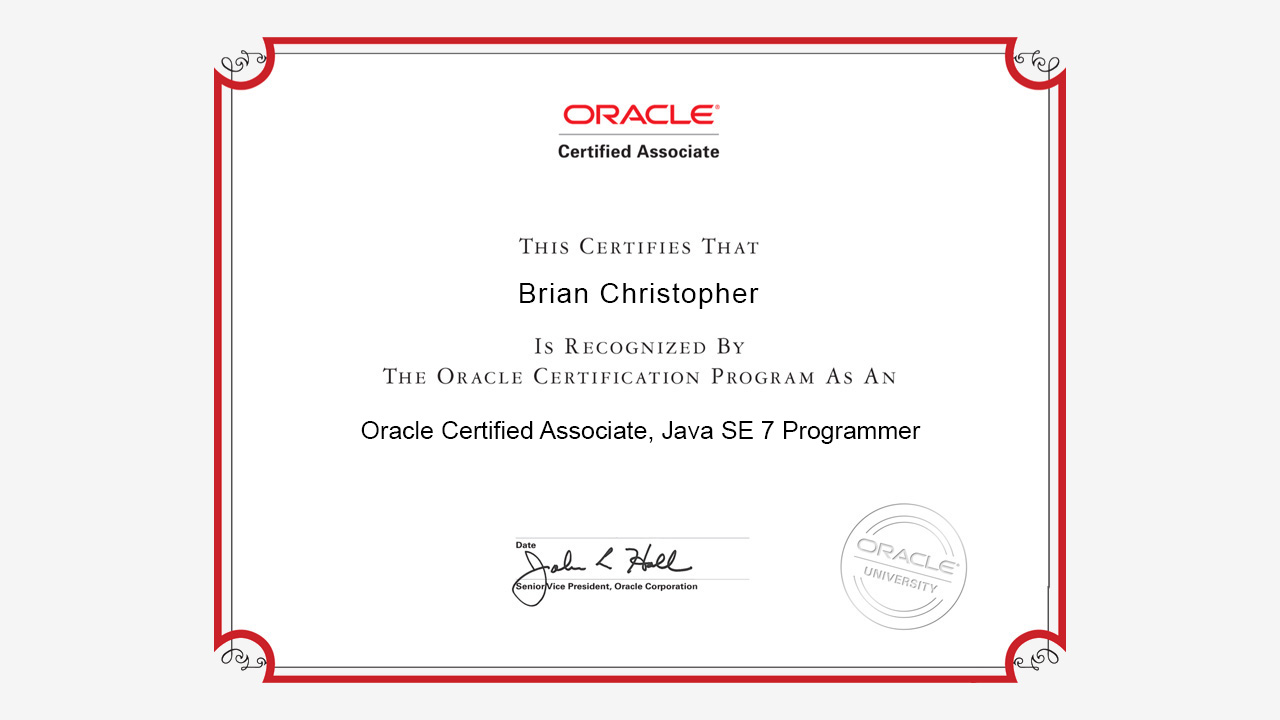 OCAJP 7 : Java SE 7 Programmer I Exam [1Z0-803] Practice Tests ...