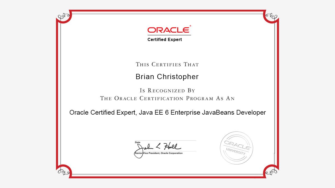 Oceejbd 6 practice tests java ee 6 ejb developer exam 1z0 895 sample oracle certified expert java ee 6 enterprise javabeans developer certificate baditri Images