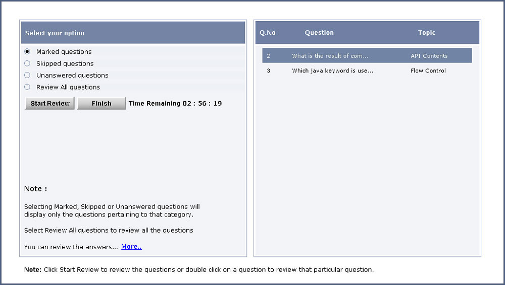 scjp 5.0 exam - Mock Exam Lab - screenshot