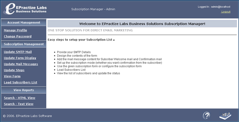 Subscription Manager - Free Version screenshot